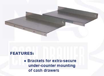 M-S J-423 Cash Drawer Under Counter Mount